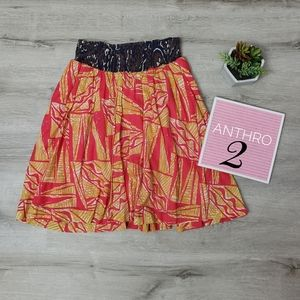 ANTHROPOLOGIE patterned skirt with pockets